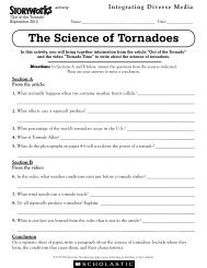 The Science of Tornadoes - Storyworks Magazine - Scholastic