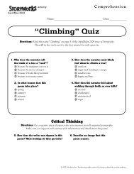 ?Climbing? Quiz - Storyworks - Scholastic