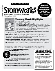 February/March Highlights - Storyworks Magazine - Scholastic