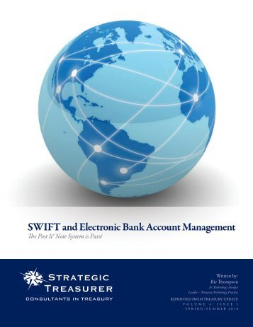 SWIFT and Electronic Bank Account Management - Strategic ...