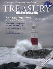 Treasury Update Vol. 5, Issue 1, Spring/Summer 2011 - Strategic ...