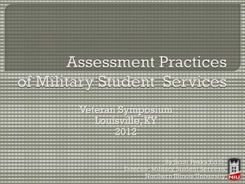 Assessing Military and Veteran Student Services