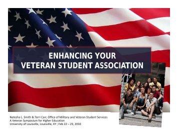 Enhancing Your Veteran Student Association - Natesha L. Smith ...