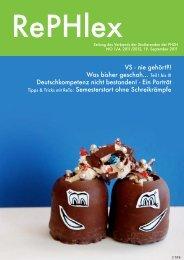 Ausgabe 1, 19.9.2011 - Pädagogische Hochschule Zürich