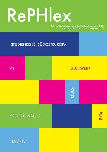 Ausgabe 2, 12.12.2011 - Pädagogische Hochschule Zürich