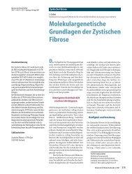 Molekulargenetische Grundlagen der Zystischen Fibrose