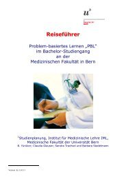 Reiseführer - Studium der Medizin in Bern - Universität Bern