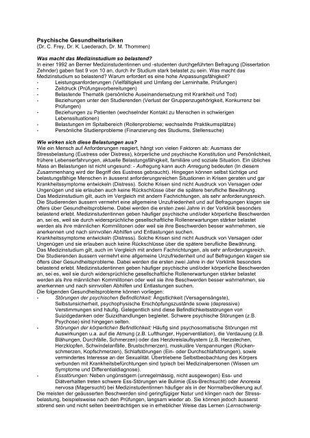 Dissertation medizin bern