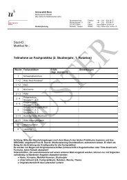 2. Studienjahr, 1. Rotation - Studium der Medizin in Bern ...