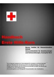 Handbuch Erste Hilfe-Kurs - Studium der Medizin in Bern ...