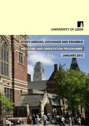 An Arrival Briefing - Study Abroad - University of Leeds