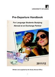 Pre-Departure Guide for Language Students 2011/12