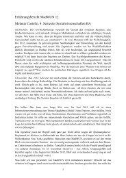 Erfahrungsbericht MadMUN 12 Melanie Castello, 4. Semester ...