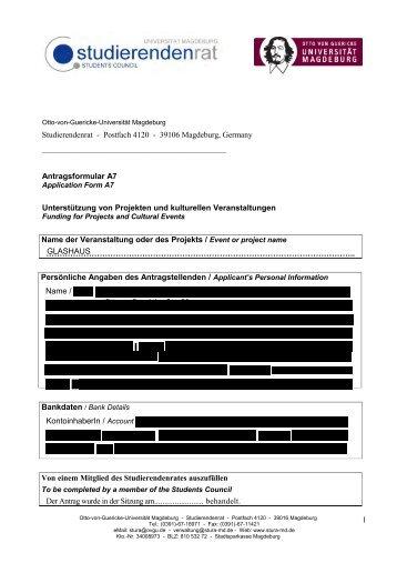 Studierendenrat - Postfach 4120 - 39106 Magdeburg ... - Stura Wiki