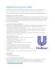 Stagiair Marketing Unox (Vacaturenummer: 130006VF) - StuWWW