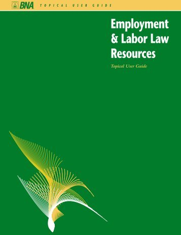 Employment & Labor Law Resources - Bna