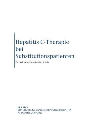 Hep.C-Therapie bei Substitutionspatienten
