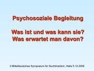 Psychosoziale Begleitung - K. Beutler