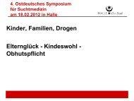 Elternglück-Kindeswohl-Obhutspflicht, Vortrag C. Schönburg, Halle
