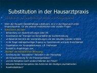 Substitution in der Hausarztpraxis
