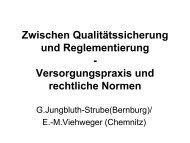 Zwischen Qualitätssicherung und Reglementierung ...