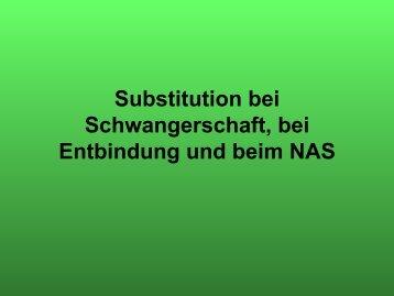 Substitution bei Schwangerschaft, bei Entbindung und beim NAS