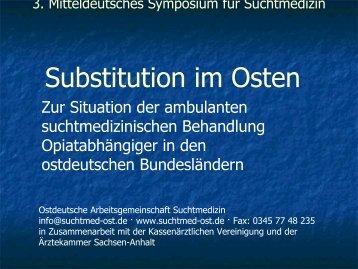 Programmablauf - Ostdeutschen Arbeitsgemeinschaft für ...