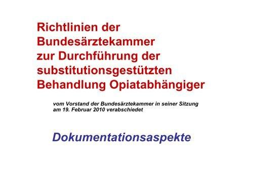 Richtlinien der Bundesärztekammer zur Durchführung der ...