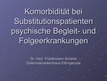 Komorbidität bei Substitutionspatienten - psychische Begleit