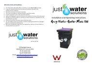 Instruction Booklet for Grey Water Gator Maxi - SunshowerOnline