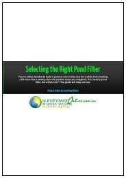1 Selecting the Right Pond Filter - SunshowerOnline