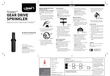 GEAR DRIvE SPRINkLER - Orbit Irrigation Products, Inc.
