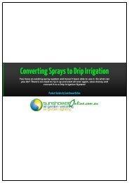 1 Converting Sprays to Drip Irrigation - SunshowerOnline