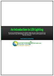 An Introduction to LED Lighting - SunshowerOnline