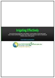 Irrigating Effectively - SunshowerOnline