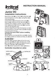 INSTRUCTION MANUAL - Irritrol
