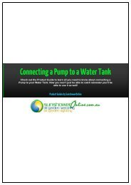 Connecting a Pump to a Water Tank - SunshowerOnline