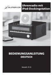 37688 AE Clock Radio IM_D.indd - Superior