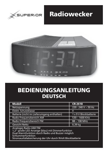 53357 AE clock radio IM_D.indd - Superior