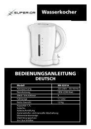 Wasserkocher BEDIENUNGSANLEITUNG - Superior