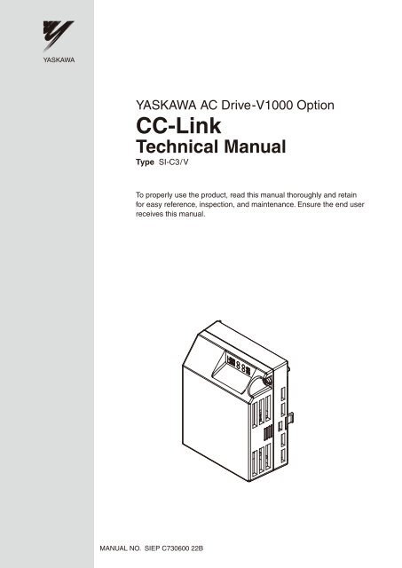Astonishing Yaskawa Ac Drive V1000 Option Cc Link Technical Manual Wiring Digital Resources Zidurslowmaporg