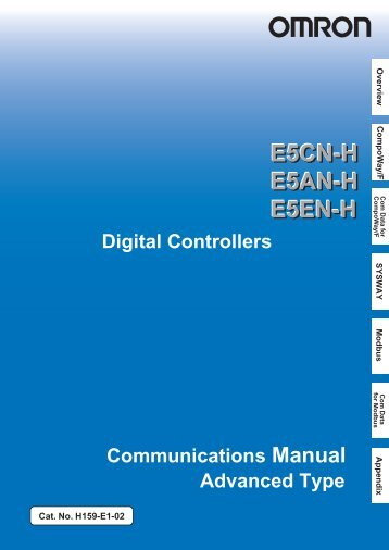 E5CN-H E5AN-H E5EN-H Digital Controller Communications Manual