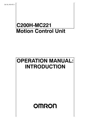omron mc 510 user manual