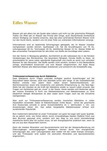 Edles Wasser - Aqua Nova GmbH