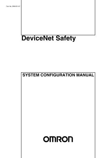 DeviceNet Safety System Configuration Manual