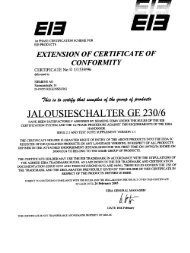 EXTENSION OF CERTIFICATE OF CONFORMITY