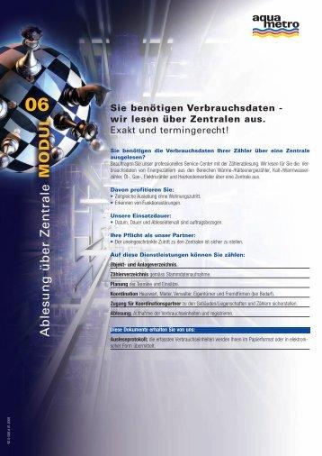 Sie benötigen Verbrauchsdaten - wir lesen über ... - Aquametro AG