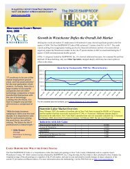 Growth in Westchester Defies the Overall Job Market - pace university