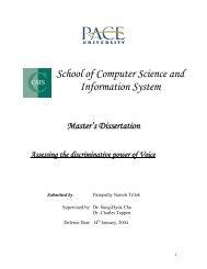 Naresh Trilok's M.S. Thesis - pace university