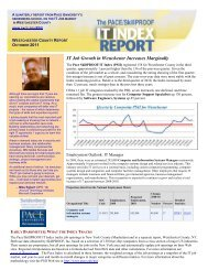 IT Job Growth in Westchester Increases Marginally - pace university